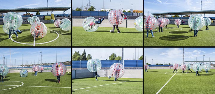 Bubble football despedidas
