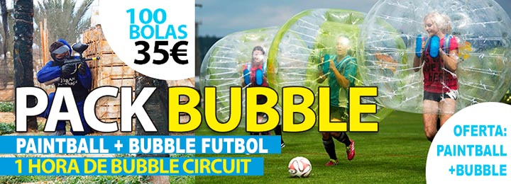 oferta Pack Paintball más Bubble football